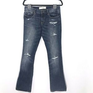 Abercrombie & Fitch Emma Jeans Distressed Boot Cut
